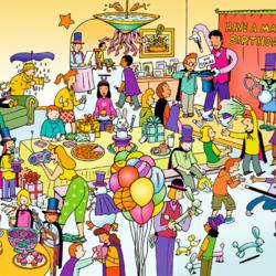Пазл онлайн: Волшебный День рождения