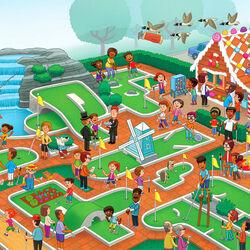 Пазл онлайн: Невероятный мини-гольф