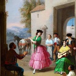 Пазл онлайн: Испанский танец