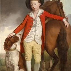 Пазл онлайн: Мальчик с собакой