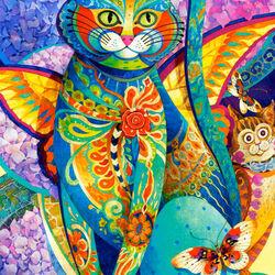 Пазл онлайн: Кошачья фиеста