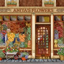 Пазл онлайн: Цветы Аниты