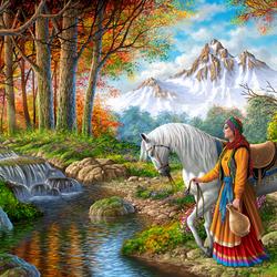 Пазл онлайн: Напоить коня
