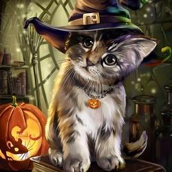 Пазл онлайн: Магический котенок