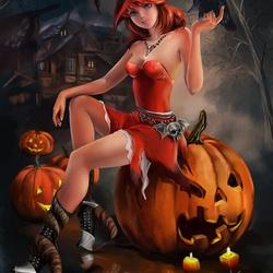 Пазл онлайн: Хэллоуинская ведьма