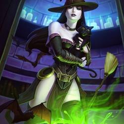 Пазл онлайн: Афродита, образ ведьмы