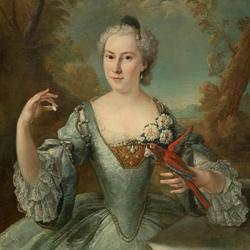 Пазл онлайн: Дама с птицей