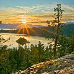 Пазл онлайн: Солнечные лучи