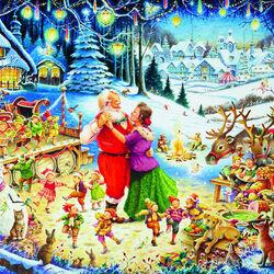 Пазл онлайн: Рождественская вечеринка Санты