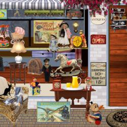 Пазл онлайн: Черный кот в магазине