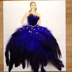 Пазл онлайн: В синих перьях