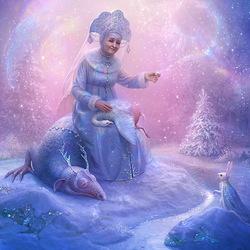 Пазл онлайн: Старушка Зима