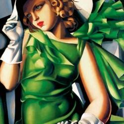 Пазл онлайн: Дама в зеленом
