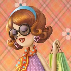 Пазл онлайн: Модница