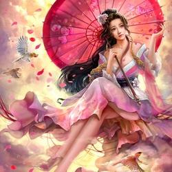 Пазл онлайн: Азиатка