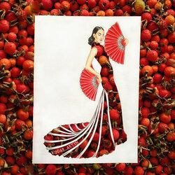 Пазл онлайн: Китайские вдохновения и шиповник
