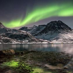 Пазл онлайн: Норвегия. Северное сияние
