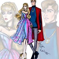 Пазл онлайн: Аврора и принц Филипп