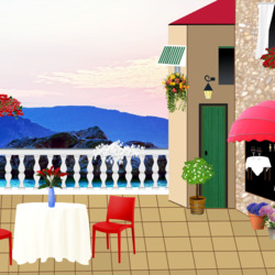 Пазл онлайн: В ресторане
