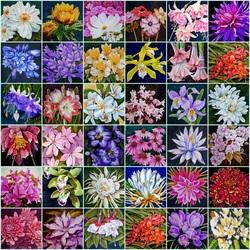 Пазл онлайн: Цветы на шелке