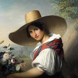 Пазл онлайн: Девушка в шляпе