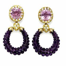 Пазл онлайн: Серьги из аметистов и бриллиантов