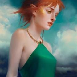 Пазл онлайн: Рыжая эльфийка