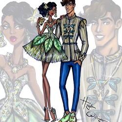 Пазл онлайн: Тиана и принц Нэвин