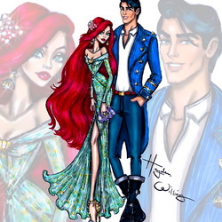 Пазл онлайн: Ариэль и принц Эрик