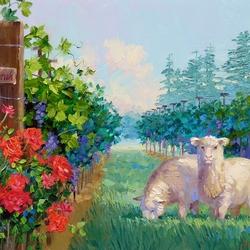 Пазл онлайн: Милые овечки