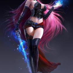 Пазл онлайн: Темная магичка