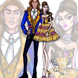 Пазл онлайн: Белль и принц Адам