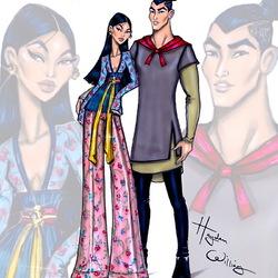 Пазл онлайн: Мулан и Ли Шанг