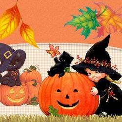 Пазл онлайн: Хэллоуинские забавы