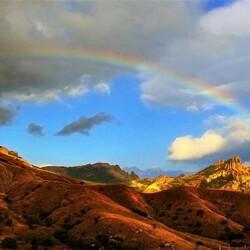 Пазл онлайн: Радуга над горами