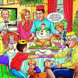Пазл онлайн: Рождественский обед