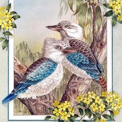 Пазл онлайн: Синекрылая кукабара