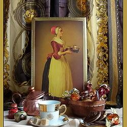 Пазл онлайн: Натюрморт с Шоколадницей