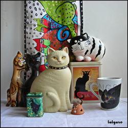 Пазл онлайн: Кошки