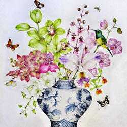 Пазл онлайн: Букет орхидей