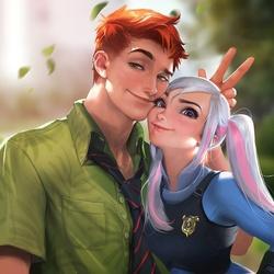 Пазл онлайн: Ник и Джуди