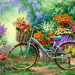 Пазл онлайн: Продажа цветов