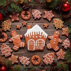 Пазл онлайн: Праздничное угощение