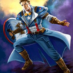 Пазл онлайн: Капитан Америка в стиле стимпанк