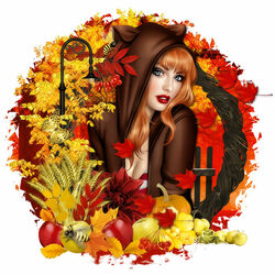 Пазл онлайн: Осенняя красавица