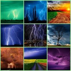 Пазл онлайн: Гроза и молния