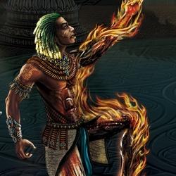 Пазл онлайн: Огненный элементаль
