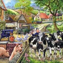 Пазл онлайн: Сельское