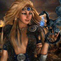 Пазл онлайн: Мечтательный дракон