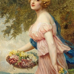 Пазл онлайн: Розовое платье